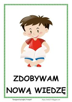 BLOG EDUKACYJNY DLA DZIECI Diy And Crafts, Crafts For Kids, Polish Language, Montessori, Kindergarten, Homeschool, Clip Art, Classroom, Education