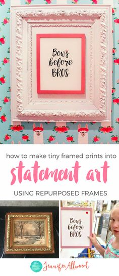 How to Frame Small Art Prints to be Beautiful & Oversized ...