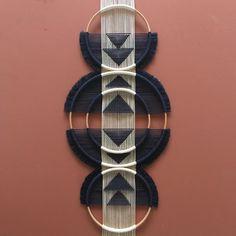 Triple O Large Macrame Tapestry – Art + Interior Macrame Design, Macrame Art, Macrame Projects, Etsy Macrame, Art Macramé, Wood Sizes, Diy Décoration, Macrame Patterns, Woven Wall Hanging