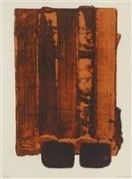 Pierre Soulages - Abstract Art - Informal Painting - Lithographie n°34