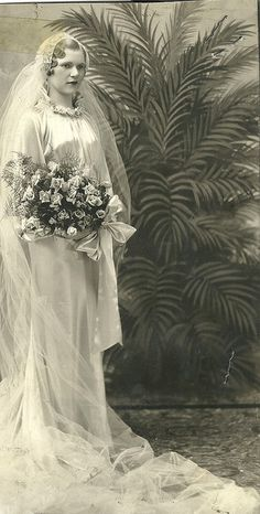 Gorgeous 1920s wedding portrait