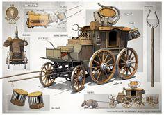 Cart prop concept art
