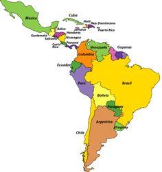 Países de América latina.