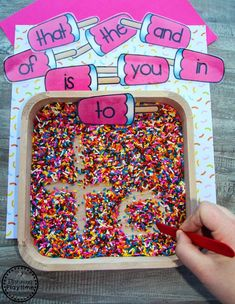 Preschool Sight Words Centers - Ice Cream Theme #preschool #preschoolcenters #summerpreschool #icecreamtheme #planningplaytime #sightwords
