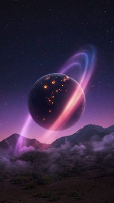 Space Planet Art Wallpaper - IPhone Wallpapers