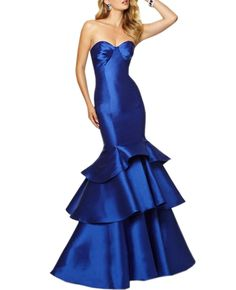 Beautyfudre Women's Pleated Sweetheart Empire Backless TieRoyal Blue Mermaid Evening Gown Prom Dress Royal Blue US6. Fabric: Taffeta,Satin. Highlights: Sweetheart,Mermaid,with Bra. Please check carefully at the size chart and measuring guide on the LEFT, NOT the Amazon size chart.If you need customize,please email us your measurements when you order,Thank you!. When getting your order,we will contact you to make sure you have chosen the right measurements.If no reply in 2 Days,We will…