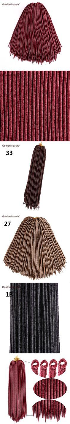 18'' Crochet braids Faux Locs Braiding Synthetic Crochet Hair Extensions Golden Beauty 24 strands/pack