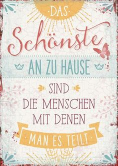Postcard - The best thing about your home- Postkarte – Das Schönste an zu Hause Postcard – The best thing about your home - Brush Lettering, Hand Lettering, Family Quotes, Life Quotes, True Words, Quotations, Thoughts, Funny Jokes, Sayings