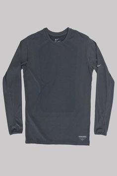 The Gyakusou Dri-FIT Sweat Map Long-Sleeve Men's Running Shirt features mesh zones in areas where you sweat the most to keep you dry and comfortable during your run. Product Information: Product Code: Color: Dark Grey Material: Dri-Fit Polyester Mens Running Shirts, Dark Grey, Nike, Jun Takahashi, Tees, Long Sleeve, Fitness, Map, Sweaters
