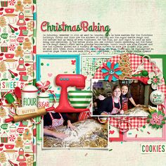 """Christmas Baking by Kristin Aagard http://the-lilypad.com/digital-scrapbooking-kit-christmas-baking.html Scraplift of Tronesia's Layout, """"Venturing Out"""" http://the-lilypad.com/forum/galleries/venturing-out.161016/ Font is Traveling Typewriter  Watch me scrap this layout: https://youtu.be/aQWgPWyXqVo"""