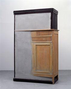 Doris Salcedo, Untitled, 1998. Wood, concrete and metal.