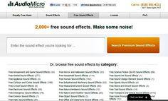 AudioMicro, más de 2000 efectos de sonido gratuitos para descargar