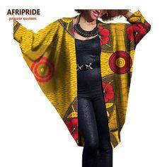 African Batik Batwing-Sleeve Cloak