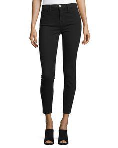 The Stiletto High-Waist Ankle Jeans, Jet Black, Women's, Size: 25 - Current/Elliott