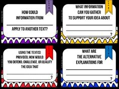 DOK Discussion Cards Just print, cut, and laminate!