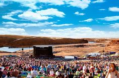 10 Best Outdoor Music Venues in the U.S.- been to the Gorge and Red Rocks soooooo freakin awesome!