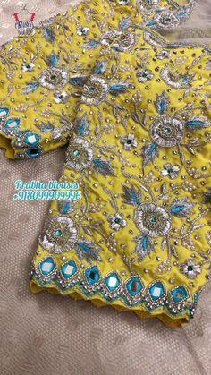 Wedding Saree Blouse Designs, Pattu Saree Blouse Designs, Hand Work Blouse Design, Simple Blouse Designs, Zardosi Work Blouse, Blouse Designs Catalogue, Maggam Work Designs, Maggam Works, Designer Blouse Patterns