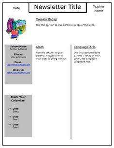 Weekly Newsletter Templateeditable In PowerPoint Theposhpaperclip - Powerpoint newsletter template