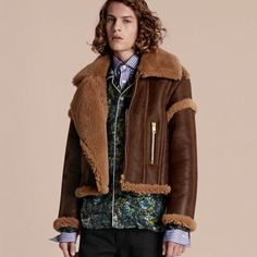 The Sculptural Shearling Flight Jacket by BURBERRY