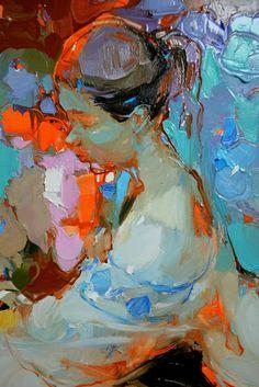 No photo description available. Abstract Portrait, Portrait Art, Portraits, Figure Painting, Figure Drawing, Painting & Drawing, Painting Inspiration, Art Inspo, Expo