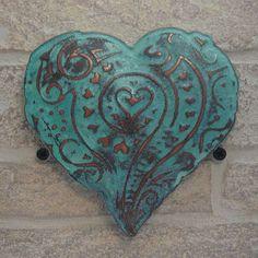 3D Copper Verdi Heart