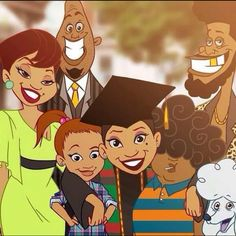 My favorite show!! The Proud family Penny graduated