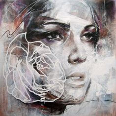 "Today we want to show you beautiful portrait paintings by UK based painter Danny O'Connor (aka DOC). ""Concentrating mainly on figurative and portrait subject matter, his influences include comic books, graffiti, illustration, and character design. Street Art, Portrait Art, Portrait Paintings, Woman Portrait, Female Portrait, Banksy, Face Art, Painting Inspiration, Cool Art"