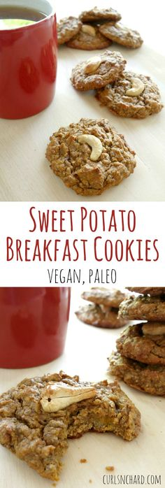 Sweet Potato Breakfast Cookies - vegan, paleo | curlsnchard.com