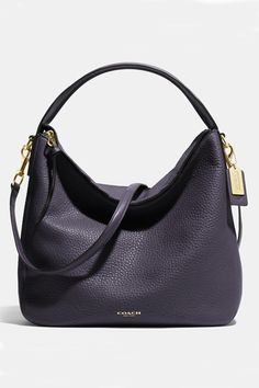 The Bleecker Sullivan Hobo In Pebbled Leather from Coach Cheap Coach Purse Handbags Coach Bags Outlet, Cheap Coach Bags, Coach Handbags, Purses And Handbags, Leather Handbags, Leather Bag, Pink Purses, Black Leather, Commuter Bag