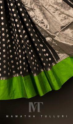 trend setting colour another piece Ethnic Sarees, Indian Sarees, Silk Saree Kanchipuram, Silk Sarees, Indian Dresses, Indian Outfits, Indian Clothes, Saree Trends, Black Saree