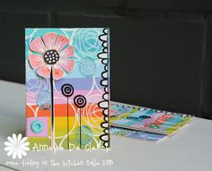 """Some fiddling on the kitchen table: PaperArtsy """"Circles"""""""