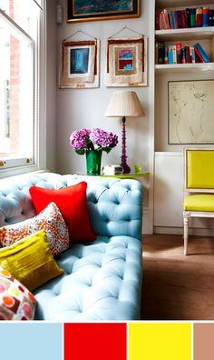 Don't be afraid to make a bold statement in your home. You can accomplish this by purchasing bright and vibrant accent pillows along with other accessories in your home!