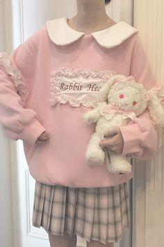 Kawaii Outfit, Kawaii Clothes, Kawaii Fashion, Cute Fashion, Vintage Fashion, Cherry Lemonade, Camouflage Patterns, Mode Chanel, Collared Sweatshirt