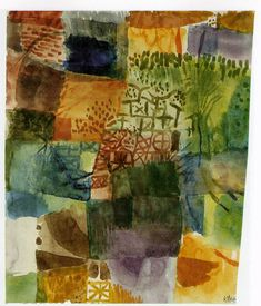 'Remembrance of a Garden' (1914) by Paul Klee