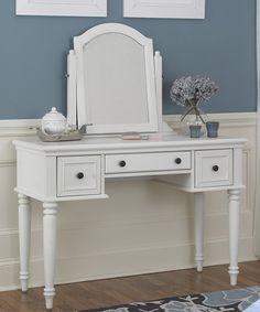 White Finish Bermuda Vanity Mirror   zulily
