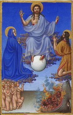 Folio 34r - The Last Judgement.jpg-Très Riches Heures du Duc de Berry