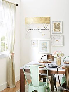 Are your walls begging for a new look? Create a gorgeous, attention-grabbing gallery wall by grouping framed sentiments in a favorite gathering space.