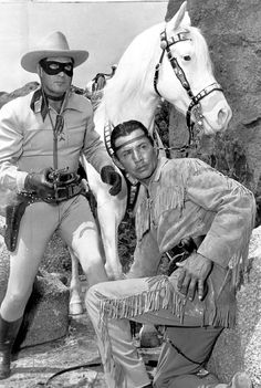 The Lone Ranger (Clayton Moore) and Tonto (Jay Silverheels)