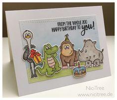 Geburtstagskarte, Birthday Card, Gerda Steiner Designs Party Animals