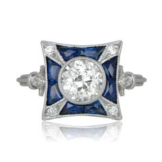 Are you looking for an Antique Vintage Art Deco Engagement Ring? Look no further than this stunning Antique Engagement Ring. Diamond Studs, Diamond Jewelry, Jewelry Rings, Jewelry Art, Deco Engagement Ring, Silver Engagement Rings, Edwardian Ring, Art Deco, European Cut Diamonds