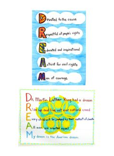 Do you have a dream? did and he wrote about it in his famous speech in Commemorate his message by writing and illustrating an acrostic poem with Crayola® Super Tips Washable Markers. Teaching Economics, Student Teaching, Teaching Ideas, Holiday Activities, Writing Activities, Writing Ideas, Writing Prompts, Mlk Jr Day, Make Theme