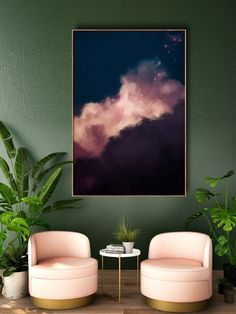 Large Wall Art | Abstract Art | Cloud Painting Instantly update your room with this stunning large wall art on canvas, by artist Corinne Melanie.  Title: No. 2 Size: Your choice of 50x75CM (20x30IN), 60x90CM (24x36in), 75x100CM (30x40IN) or 80x120CM (32x48IN) Materials: Rich +