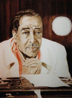 Duke Ellington, watercolour  Jennifer Hunter