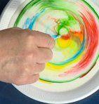 Esperimenti scientifici per bambini – esplosione di colori nel latte | Lapappadolce