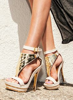Plated Strappy Heels find more mens fashion on www.misspool.com