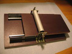 homemade linoleum printing press part 3