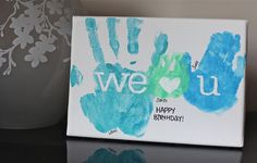 Handprint canvas...I absolutely love this one!!!