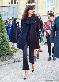 Emmanuelle Alt, Editor in Chief of Vogue Paris... They are Wearing Chanel Granny Slingbacks by PeopleandStyles.com