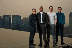 #TeamCap... in Singapore.... where I USED TO live... I'm jealous. (That is not a photoshopped picture. they are standing on Marina Bay Sands near the pool.