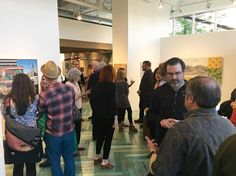 """Amazing turn out tonight! Thank you to all of you who joined us and a big thank you to all of our artists who contributed to our """"Art Behind the Zion Curtain"""" exhibition! Be sure to swing by the gallery this is a show you don't want to miss! #art #artofthewest #artbehindthezioncurtain #gallerystroll"""
